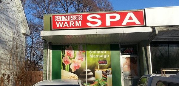 warm spa massage parlour